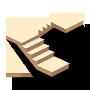 Расчет лестницы с поворотом на 180 - Двухмаршевая лестница на косоурах