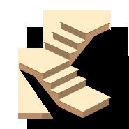 Расчет деревянной лестницы на косоурах с поворотом на 90 градусов и площадкой