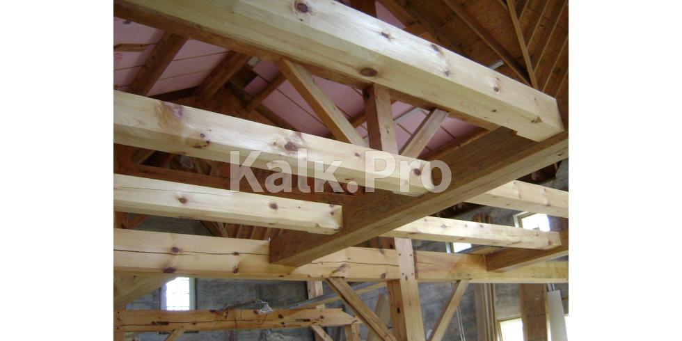 расчет деревянных конструкций здания курсовая