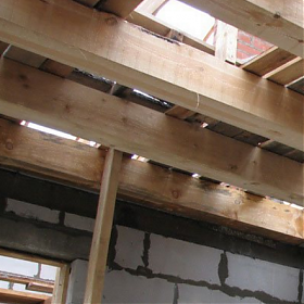 The calculation of the wooden ceiling beams