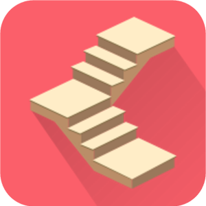 Wooden staircase with 90 degree rotation calculator