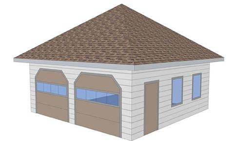 Hipped roof kalk.pro