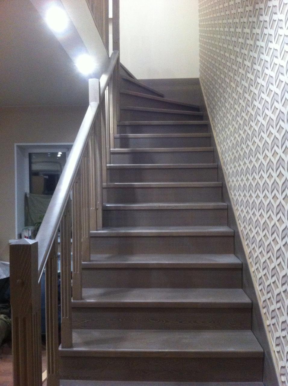 Изготовление лестницы + покраска