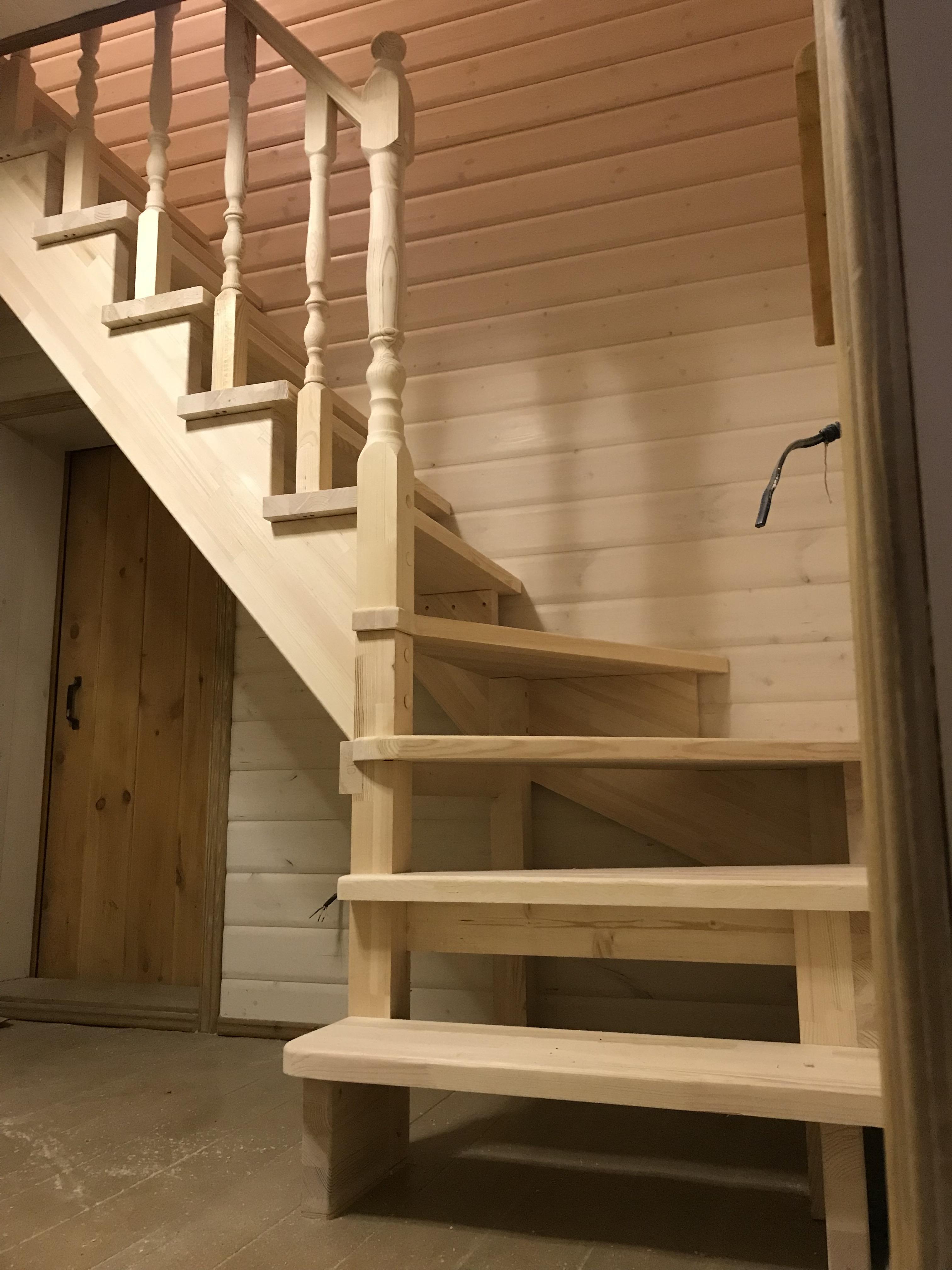 Фото лестницы на 90 градусов в частном доме