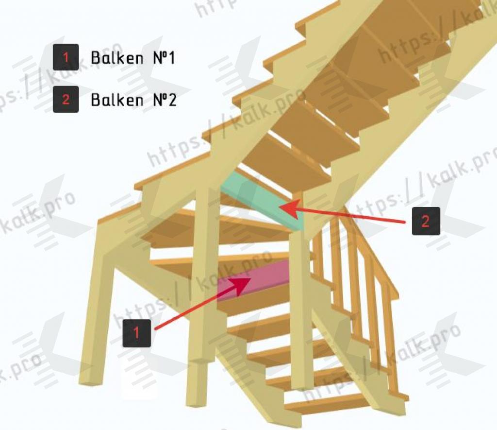 1 4 links gewendelte treppe berechnen